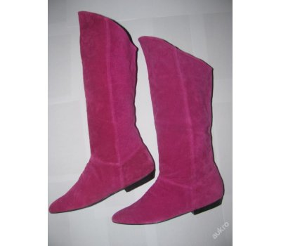 Trendy pink semišové kozačky/nové/37,38,39,40