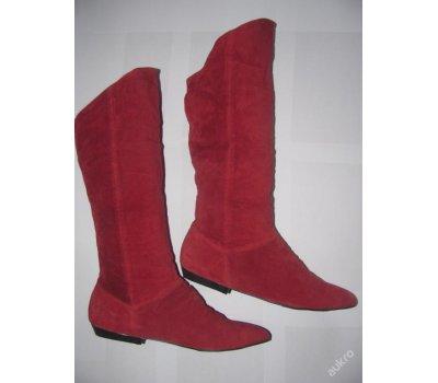 Trendy red semišové kozačky/nové/38,39