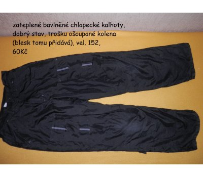 Chlapecké zateplené kalhoty