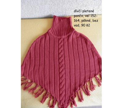 dívčí pletené pončo