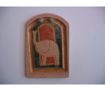 Keramická dekorace - obrázek (8,5 x 13 cm)