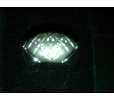 Prsten stříbrný se zirkonky vel.59