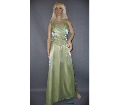 Dámské šaty lesklé zelené