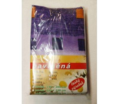 Balbone povlečení 70 x 90 cm a 140 x 200 cm fialové kostky