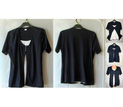 0051 Dámské tričko barva tmavomodrá až černá M