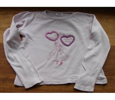 0586 Dívčí triko dlouhý rukáv 128 Disney