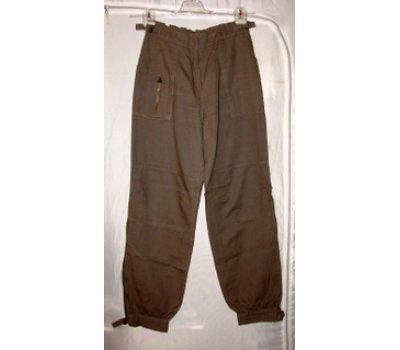 0504 jeans,mrkváče hnědé S